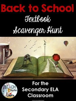 Use these free Back to School Scavenger Hunt handouts or task cards to help students become familiar with their English textbooks.