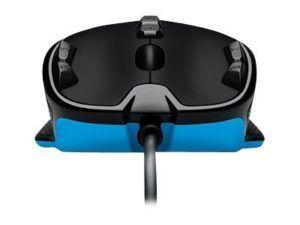 Logitech Maus G300S, Maus-Typ: Gaming, Bedienungsseite: Rechtshänder, Maus Features: Daumentaste, Scrollrad, Seitliche Zusatztasten, Farbe: Schwarz, Blau, Verbindung Maus/Tastatur: USB