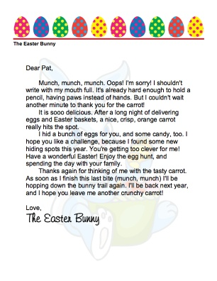 free downloadable letter from the easter bunny p and p pinterest