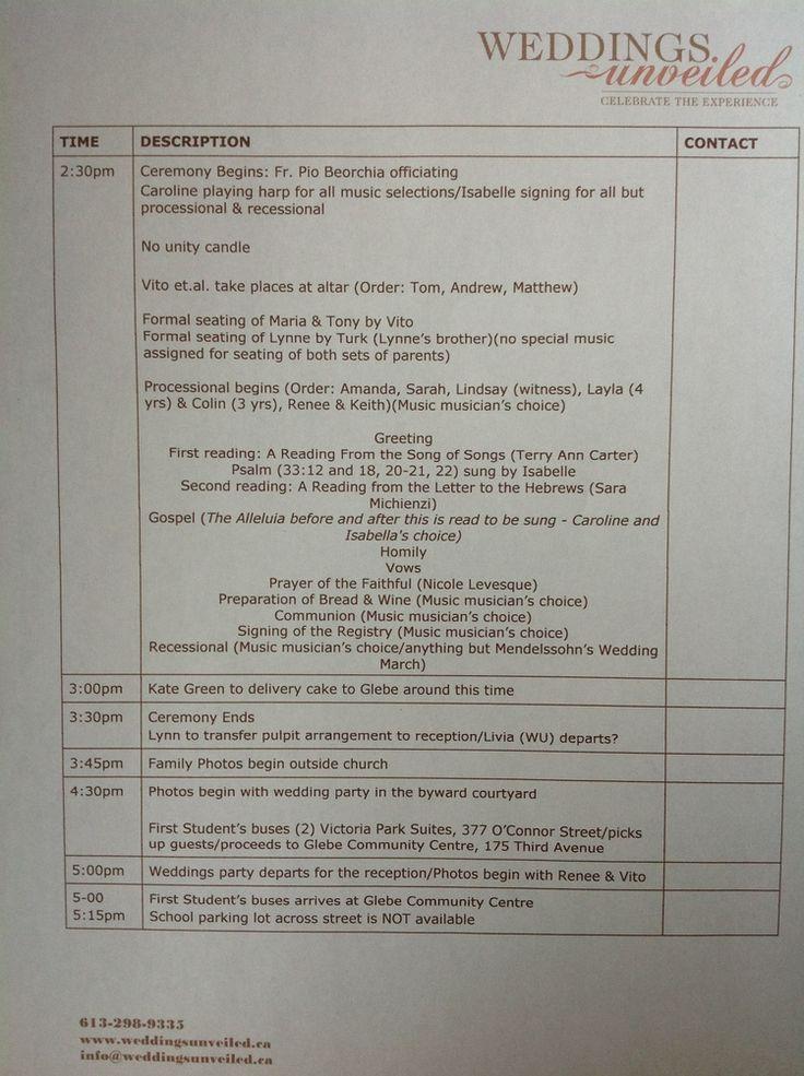 Wedding Day Timeline Weddings Unveiled