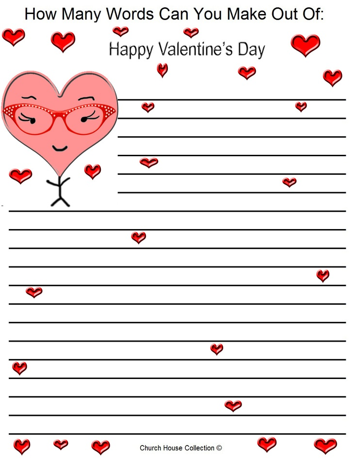 How Many Words Can You Make Out Of: Happy Valentineu0027s Day · Sunday School  LessonsSunday ...