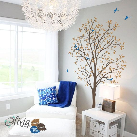 Baby kwekerij voorjaar boom vinyl muur sticker door theOliviaDesign