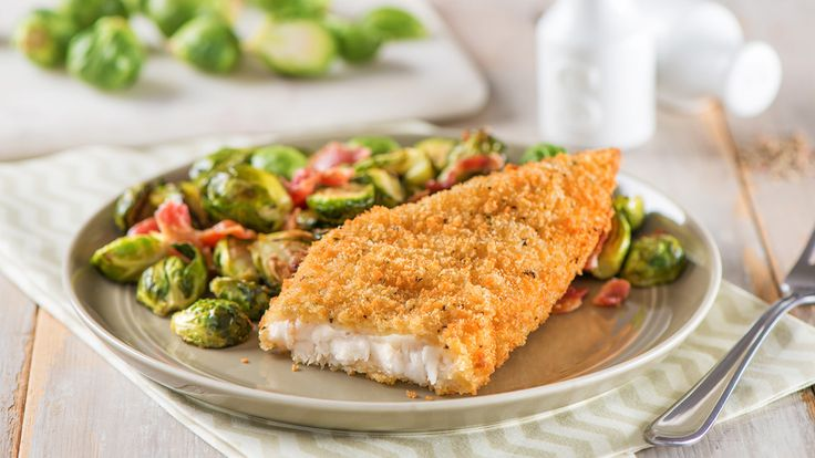 Parmesan Crusted Cod with Brussel Sprouts