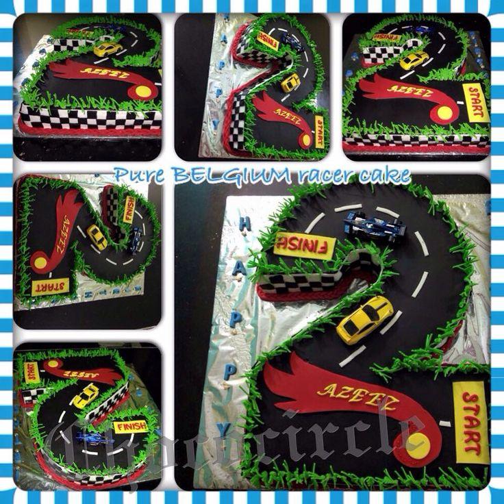 2nd birthday race track chocolate cake