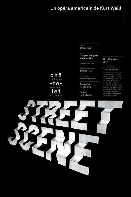 Philippe Apeloig - Street scene, un opéra américain de Kurt Weill