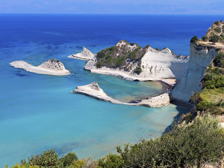 Cape Drastis, on the northwestern tip of Corfu, is barely 50 nautical miles from the heal of Italy across the Ioanian Sea. The peninsula is studded with tiny beaches, accessible only on foot or by water.