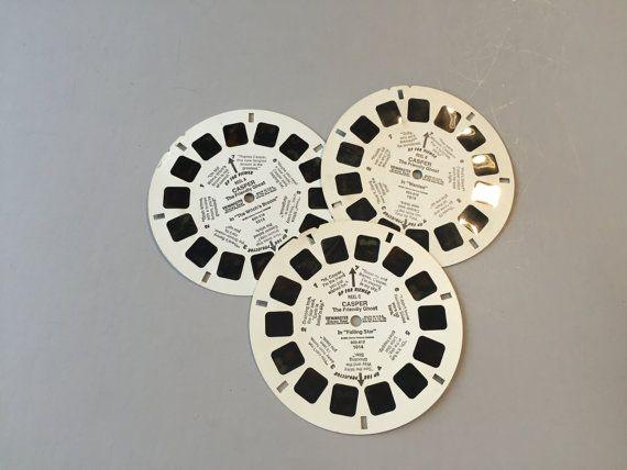 CASPER the FRIENDLY GHOST View Master Reels, vintage Casper reels, View Master cards, Casper Ghost Vintage toy, retro toy, view master toy