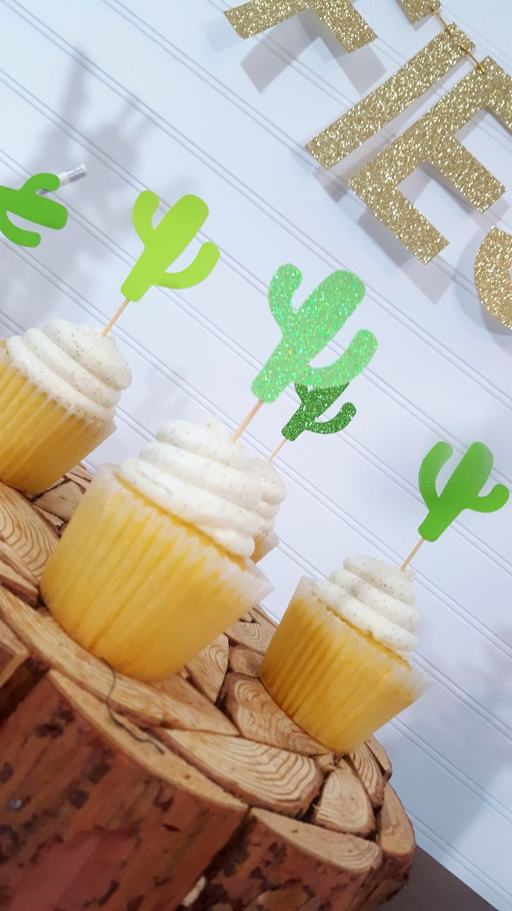 GREEN Ombre Cactus Cupcake Toppers > Fiesta Party > Cinco De Mayo > Final Fiesta Bachelorette Party > Engagement Party > Birthday by eventprint on Etsy https://www.etsy.com/listing/485287843/green-ombre-cactus-cupcake-toppers