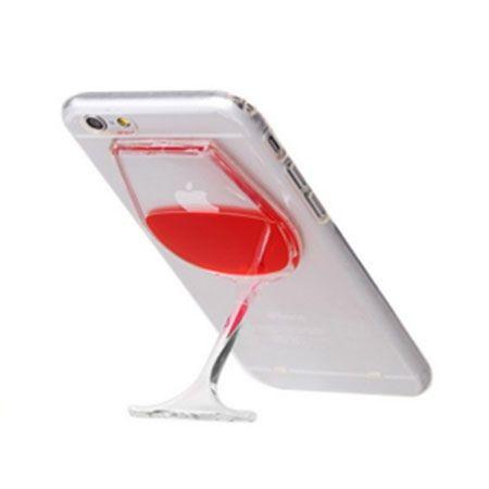 iPhone 4 / 4s etui z płynem w środku czerwone wino