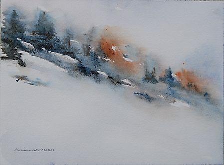 Bosco d\'inverno by Galimberti Andreina