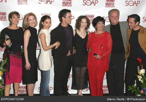 Group from GH from the last Soap Opera Digest Awards that aired on SoapNet. Nancy Grahn, Cynthia Preston, Vanessa Marcil, Rick Hearst, Rebecca Herbst, former executive producer--Jill Farren Phelps, Ron Hale and Maurice Bernard (Alexis, Faith, Brenda, Ric, Liz, Mike and Sonny).