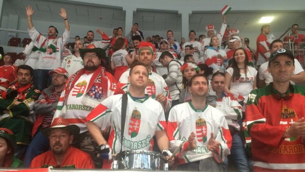 They've come a long way to be at the World Hockey Championship. They are the 1,000 or so amazing supporters from Hungary and they arrived to support the team that most predicted would finish last.