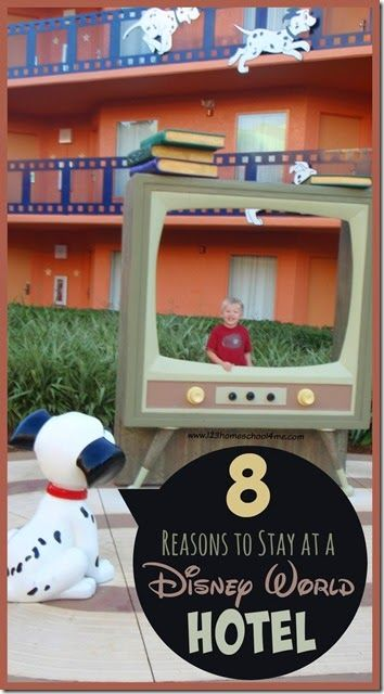 8 reasons to Stay at a Disney World Hotel - Great Disney World Planning tips to help families save money and have a great family vacations.