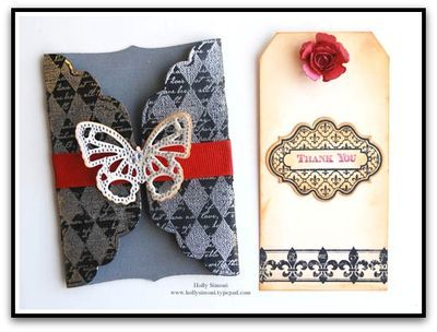 @Marsha Grove Papercraft, Inc. stamps, @Spellbinders die templates and Want2Scrap Bling