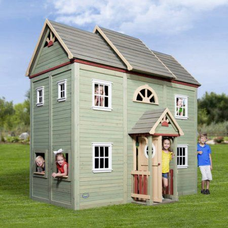 Buy Backyard Discovery Victorian Mansion Playhouse at Walmart.com