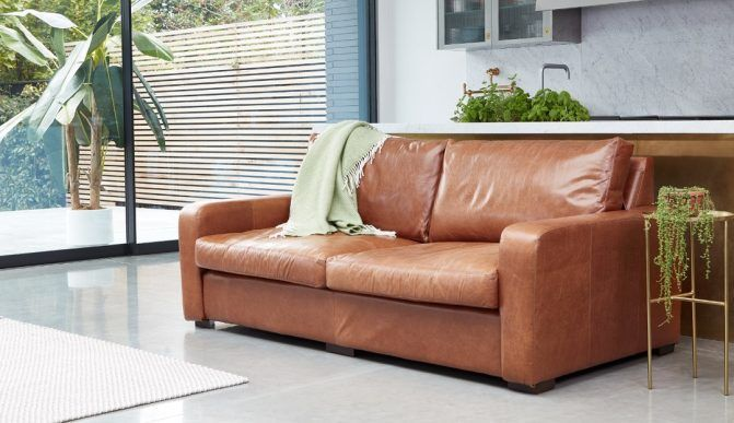 Sandhurst Sofa With Blanket Many People Find That Leather Sofas Are Easier To Clean They Are Usually Much Less Prone To St Modern Leather Sofa Leather Sofa Bed Contemporary Leather Sofa