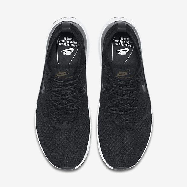 quality design e643d 14cf8 Chaussure Nike Air Max Thea Pas Cher Femme et Homme Ultra Flyknit Pncl Noir  Blanc Noir
