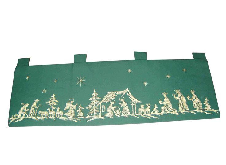 toallas navideñas en punto de cruz nacimiento - Buscar con Google