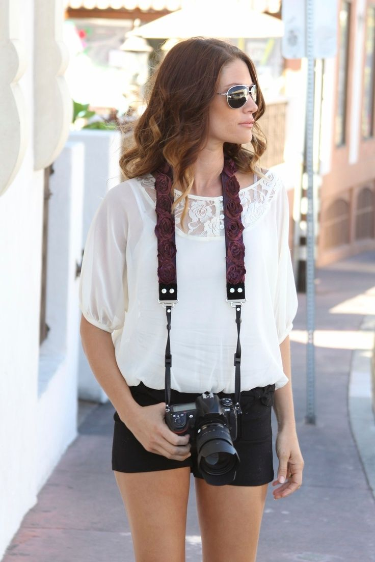 $75 Stylishooter Plum Organza Camera Strap  by Capturing Couture