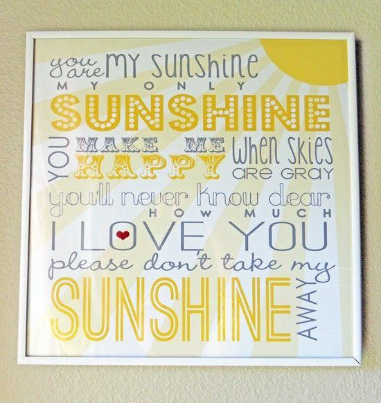 Free Sunshine Printable for @Meredith Dlatt Dlatt Dlatt Judge and ellie