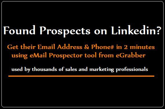 Found prospects on LinkedIn? Learn how to find email addresses for contacts found on Professional Networks.