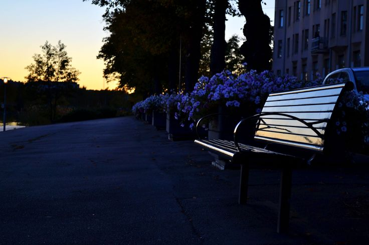 Helsinki, sunset on the couch