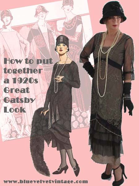 How to Put Together a #1920sStyle Great #Gatsby Look #20sInspiredDress