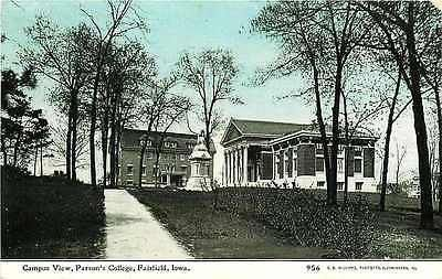 Fairfield Iowa IA 1909 Parson's College C U Williams Antique Vintage Postcard Fairfield Iowa IA 1909 Parson's College campus. Used C. U. Williams antique vintage postcard # 956 in very good condition