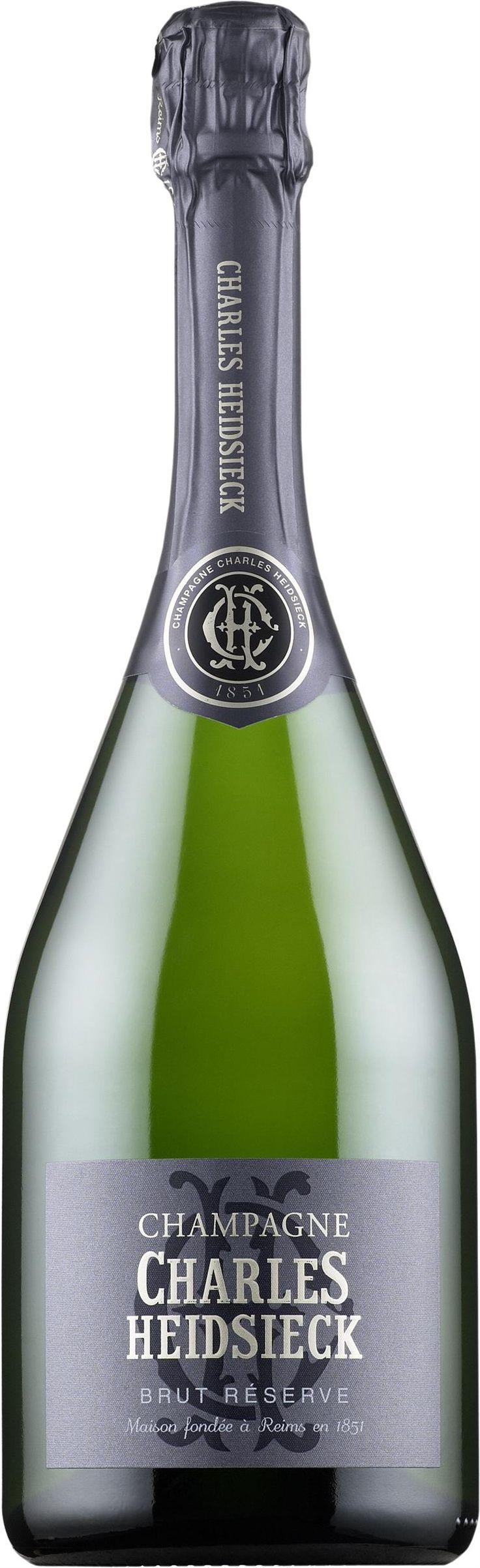 Charles Heidsieck Réserve Champagne Brut. France: Pinot noir, pinot meunier, Chardonnay. 51,90 €. Erittäin kuiva, erittäin hapokas, kypsän sitruksinen, keltaluumuinen, mineraalinen, briossinen, tasapainoinen