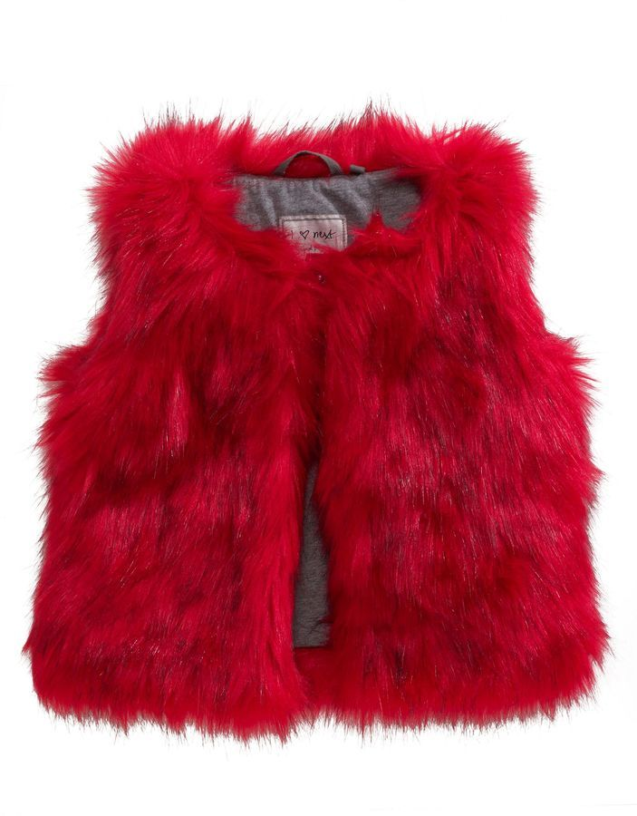 not that great but colour good  Next Red Faux Fur Gilet (3-16yrs) on shopstyle.co.uk