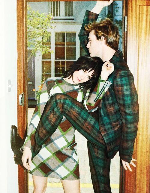 Sam Claflin and Jena Malone in Glamour Magazine