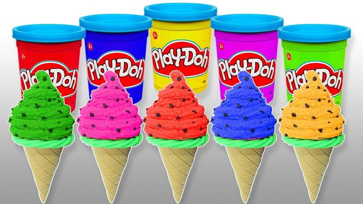Learn Colors with Play Doh Ice Cream Finger Family Nursery Songs for Kid...