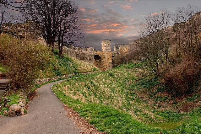 Castle walls, Scarborough, North Yorkshire. UK. by Philip Ed, via Flickr