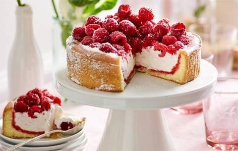 Who'd have thought? Scoop out a store-bought sponge, load with ice-cream and raspberries… dessert heaven! PS Do ahead if you wish