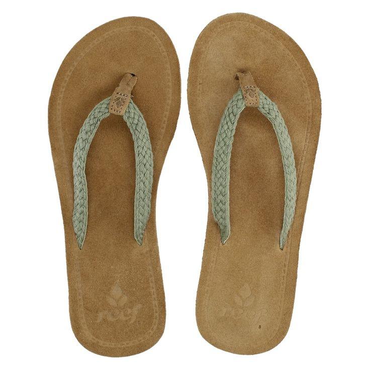 Reef dames slippers groen