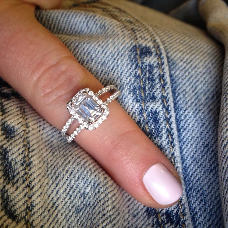 Dress it up or dress it down – diamonds go with everything. Noam Carver emerald cut engagement ring. Discover Noam Carver : http://bit.ly/1L3jGcl