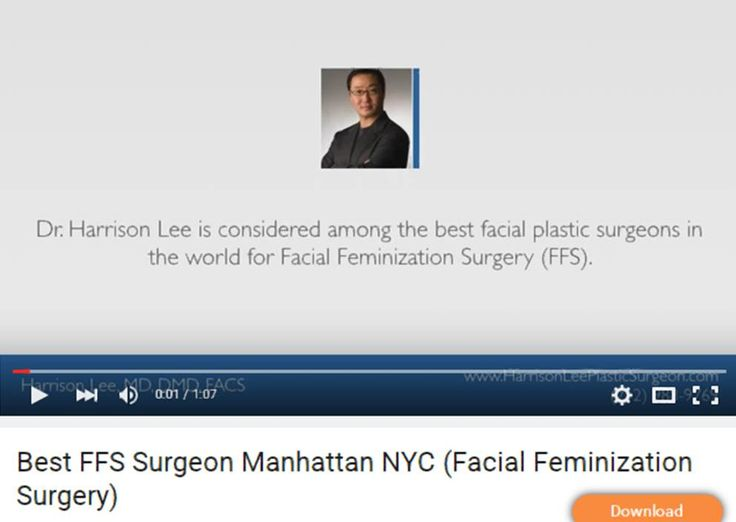 https://youtu.be/6eRGwlmXdww | FFS Surgeon Manhattan NYC (Facial Feminization Surgery) - Dr. Harrison Lee is a triple board certified plastic surgeon specializing in FFS Surgery in Manhattan NYC.