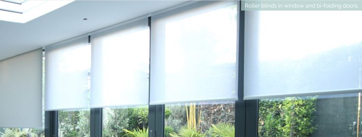 Concealed blinds for windows and doors  #Lutron #Rollerblinds #Shades #bi-folding