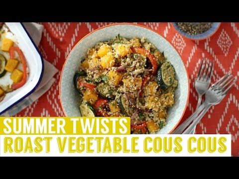 Roasted vegetable couscous with a pesto twist recipe   Homemade