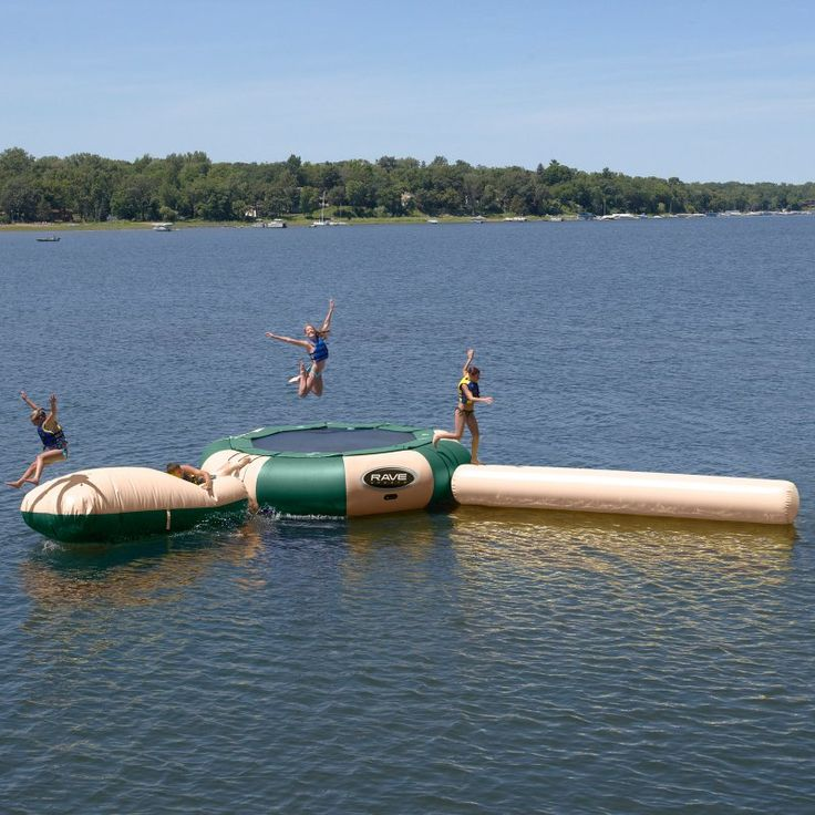 RAVE Sports 20 ft. Northwoods Aqua Jump Water Trampoline with Launch and Log Waterpark - 00203
