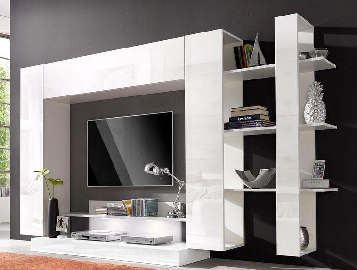 Die besten 25+ Wohnwand weiß hochglanz Ideen auf Pinterest - wohnwand wei modern