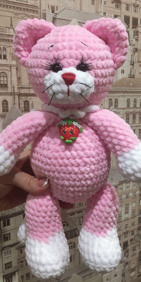 PDF Котик крючком. FREE crochet pattern cat; Аmigurumi doll patterns. Амигуруми схемы на русском.