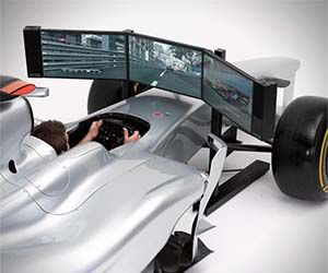 Experience the thrill of driving a Formula One race car without the risk of colliding head on into a wall at 200 MPH with this full scale Formula One race car simulator. Designed to look and feel just like the real deal, this simulator is a must have for race junkies.  Buy It  $144,000.00