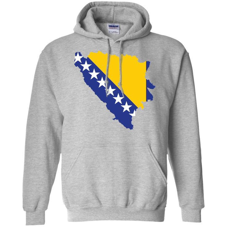 Bosnia flag -01 Pullover Hoodie 8 oz
