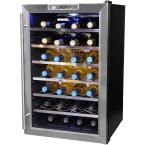 NewAir 28-Bottle Thermoelectric Wine Cooler, Silver/Black