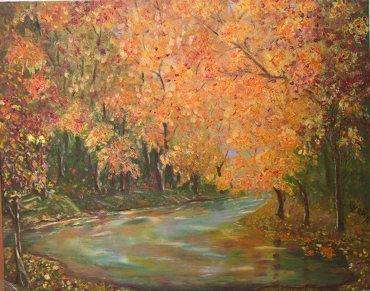 Soaptele toamnei - u/p 40x50cm Autumn whispers by Veronica Ciobanu