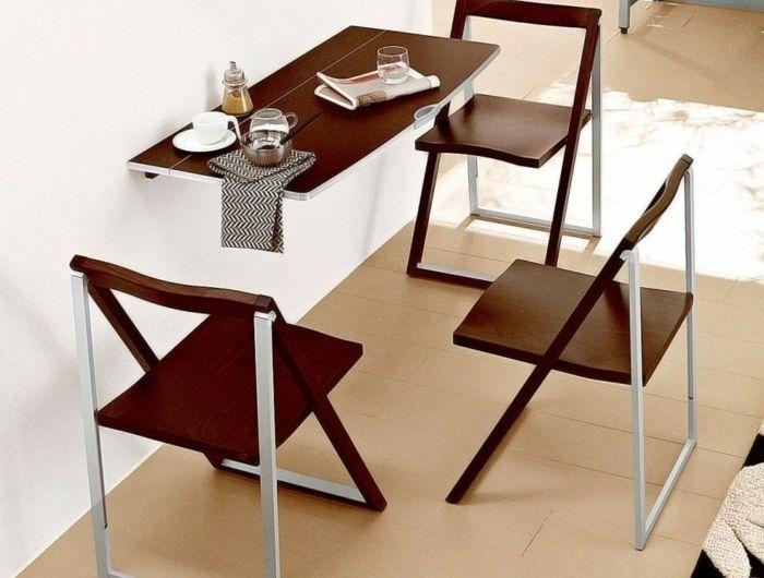 Awesome Petite Table De Cuisine #11: La Table De Cuisine Pliante - 50 Idées Pour Sauver Du0027espace - Archzine.fr