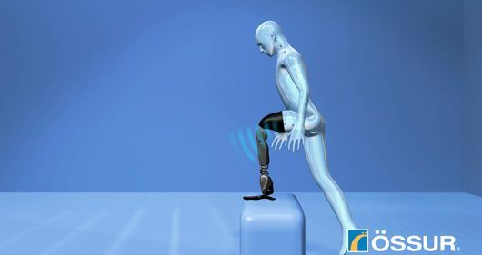 Ossur's prosthesis: bionic leg controlled by subconscious thoughts | The new technology uses implanted sensors sending wireless signals to the artificial limb's built-in computer, enabling subconscious, real-time control and faster, more natural responses and movements. [Prosthetics: http://futuristicnews.com/tag/prosthetic/ Neuroscience: http://futuristicnews.com/tag/brain/]