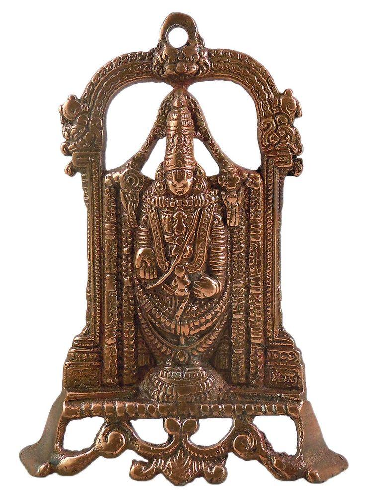 Lord Venkateshwara - Wall Hanging-Cum-Stand (Black Metal)