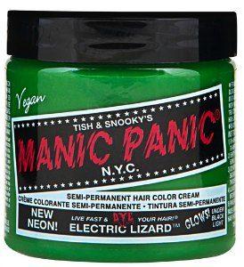 Green  Cruelty Free: Electric Lizard Hair Dye by Manic Panic #vegan #crueltyfree #stpaddysday